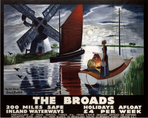 The Broads - Dusk by National Railway Museum