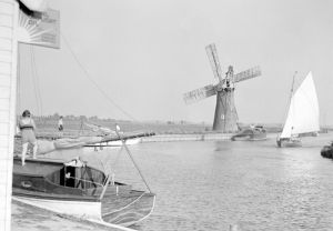 Norfolk Broads - B & W photo 2 by National Railway Museum