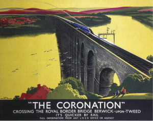 The Coronation - Crossing Royal Border Bridge by National Railway Museum