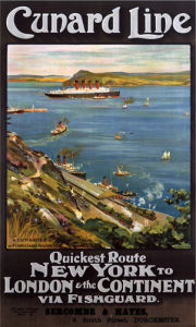 Cunard Line - New York via Fishguard by National Railway Museum
