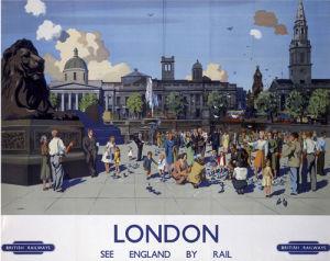 London - Trafalgar Square Pigeons by National Railway Museum