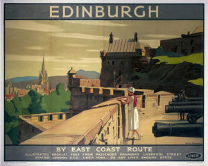 Edinburgh - Castle Battlements by National Railway Museum