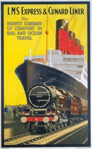 LMS Express and Cunard Liner by National Railway Museum