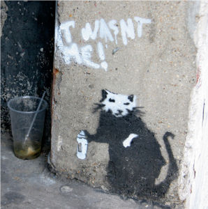 Banksy - Graffiti Rat by Panorama London