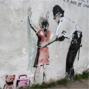 Banksy - Police Search by Panorama London