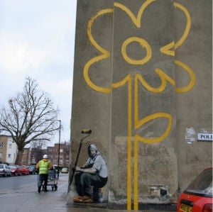Banksy - Flower by Panorama London