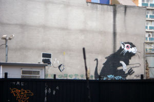 Banksy - Old Street Car Park by Panorama London