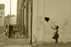 Banksy - Vestry Street (Sepia) by Panorama London