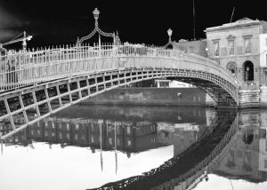 Liffey Bridge Reflection, Dublin by Panorama London