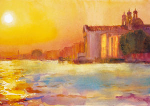 Sunset Over Zattere by Cecil Rice