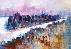 New York & Manhattan Island by Colin Ruffell