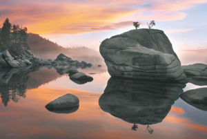 Sunset, Bonsai Rock by Elizabeth Carmel