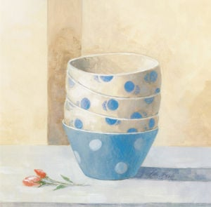 Bowls And Rose by Peter McGowan