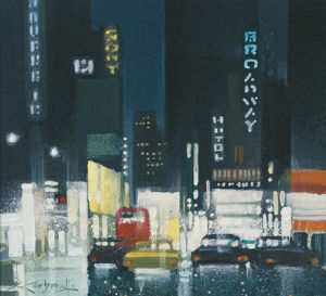 Night On Broadway by Xavier Carbonell