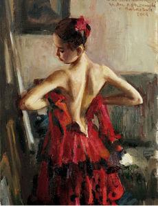 Olga Pavlova I by Vasily Bratanyuk