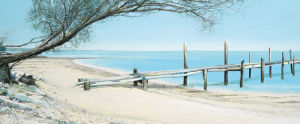 Beach Tree With Jetty by Alexander Slatter