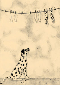 Spotty Dog And Socks by Jomac