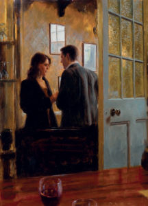 Conversation in the Lounge Bar by Aldo Balding