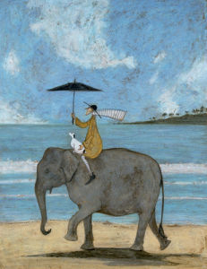 On The Edge Of The Sand by Sam Toft