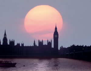 England, London: Evening over Houses of Parliament II by Edmund Nagele