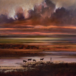 Cattle at Sunset by Jonathan Sanders