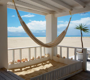 Beach House Hammock, Barbuda by Tom Mackie