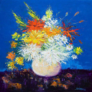 Big Blooms, White Vase by John Lowrie Morrison