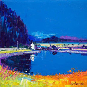 Dunardry Reflections, Crinan Canal by John Lowrie Morrison