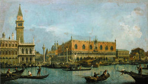 Le Mole Vu du Bassin St Marco by Giovanni Canaletto