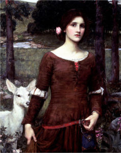 The Lady Clare by John William Waterhouse