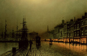 Greenock Docks by John Atkinson Grimshaw