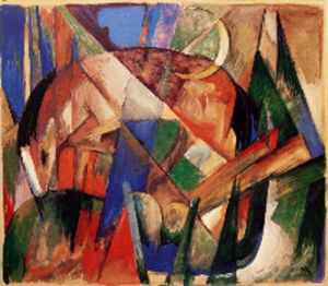 Mythical Beast II (Horse) by Franz Marc