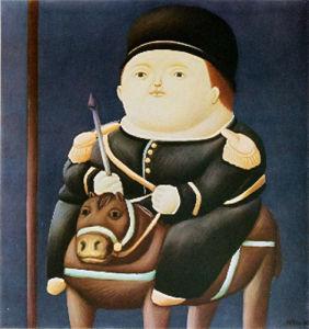 St Georg by Fernando Botero