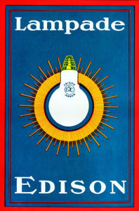 Edison Lightbulb - Italian Advertisement 1920s by Anonymous