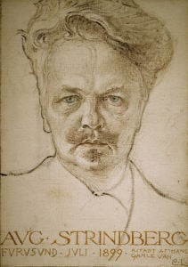 August Strindberg by Carl Larsson