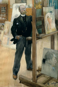 Self-portrait 1895 by Carl Larsson
