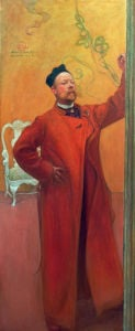 Self-portrait in front of mirror 1900 by Carl Larsson