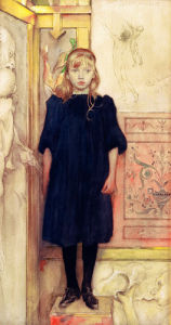 (Suzanne, daughter of the artist, aged nine 1894 by Carl Larsson