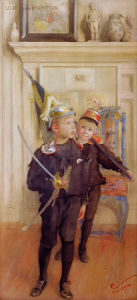 Ulf and Pontus, sons of the artist 1894 by Carl Larsson