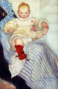 Esbjorn, the youngest son of the artist, born 1900 by Carl Larsson