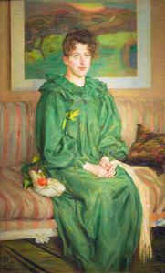 Gerda, the artist's wife 1895 by Richard Bergh