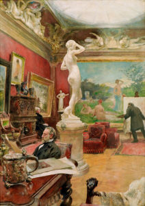Interior of the Furstenberg Gallery, Goteborg 1885 by Carl Larsson