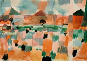 St. Germain near Tunis (up country) 1914 by Paul Klee