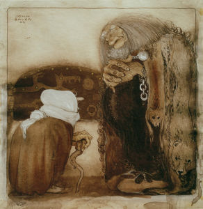 Two Trolls 1909 by John Bauer