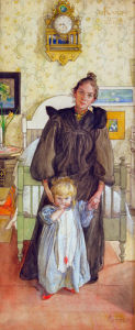 The artist's wife Karin with daugther Kersti 1898 by Carl Larsson
