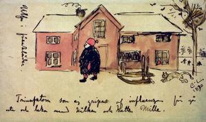 Ulf in Sheepskin by Carl Larsson