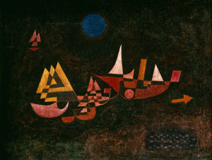 Abfahrt der Schiffe (Ships setting Sail), 1927 by Paul Klee