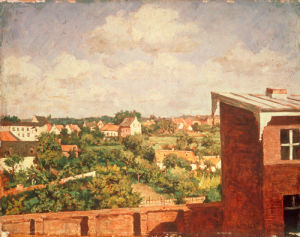 View of Dusseldorf 1865 by August Jernberg