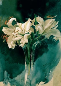 White Lilies 1885 by Anders Leonard Zorn