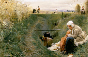 Unser taeglich Brot (Our Daily Bread) 1886 by Anders Leonard Zorn